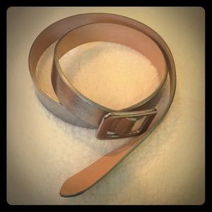 Silver Leather JCrew Belt